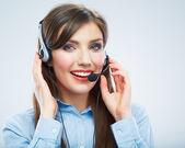 Customer service woman — Stock Photo