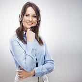 Klant service vrouw — Stockfoto