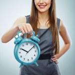 Business woman holding watch — Stock Photo #43233061