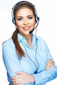 Office worker operator — Stock Photo