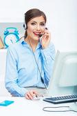 Travailleur des services client — Photo