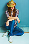 Country style girl — Stock Photo