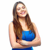 Woman with folded arms — Stock Photo