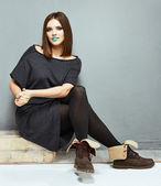 Mode kvinna — Stockfoto