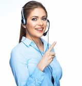 Woman operator — Stock Photo