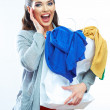 Surprised shopping woman. — Stock Photo #45913891