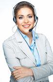 Business woman, customer service worker. — Stock Photo