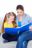 Girl reads book — Stock Photo