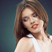 Viso bellezza donna — Foto Stock
