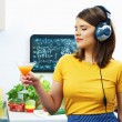 Woman cooking with fun — Stock Photo #48312407