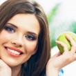 Woman with apple — Stock Photo #51152705