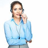 Call center operatör — Stockfoto