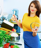 Cooking woman — Stock Photo