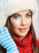 Winter style woman — Stock Photo