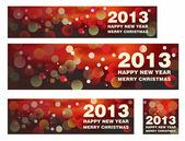 Happy New Year & Merry Christmas 2013 — Stock Vector