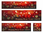 Happy New Year and Merry Christmas 2014 — Stock Vector