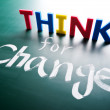 Think for change concept — Stock Photo