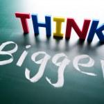 Think bigger concept — Stock Photo #15317687