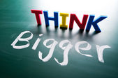 Think bigger concept — Stock Photo