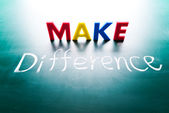Make difference concept — Stock Photo