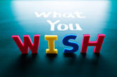 What you wish concept — Stock Photo