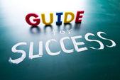 Guide för framgång koncept — Stockfoto