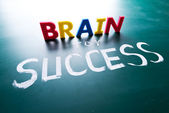 Brain for success concept — Stock Photo
