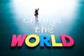 Change the world concept — Stok fotoğraf