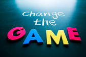 Change the game concept — Stok fotoğraf