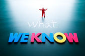 What we know concept — Stock Photo