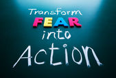 Transform fear into action concept — Photo