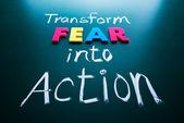 Transformer la peur en concept d'action — Photo