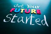 Haz tu concepto empezó a futuro — Foto de Stock