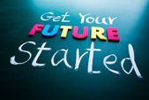 Get your future started concept — Stock Photo