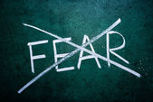 Aucun concept de la peur — Photo