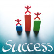 Success concept, stand on award platform - Stock Photo