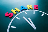 Tempo de compartilhar o conceito — Fotografia Stock