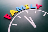 Time for family concept — Stock Photo