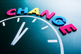 Hora de mudar o conceito — Foto Stock