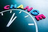 Tijd om te veranderen van concept — Stockfoto