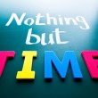 Nothing but time — Stock Photo