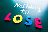Nothing to lose — Stock Photo