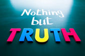 Hiçbir şey ama truth — Stok fotoğraf