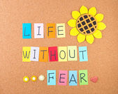Life without fear — Stock Photo