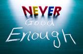 Never good enough concept — Stock Photo