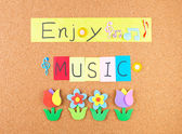Enjoy music — Stock Photo