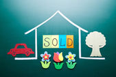 Sold house concept — Stock Photo