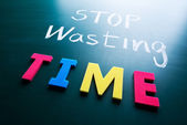 Stop wasting time concept — Stock Photo