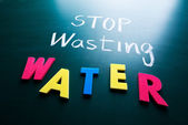 Stop wasting water concept — Stock Photo
