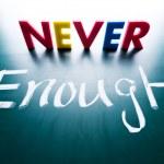Never enough — Stock Photo